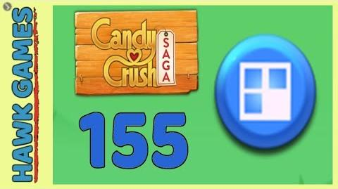 Candy Crush Saga Level 155 (Jelly level) - 3 Stars Walkthrough, No Boosters