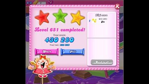 Candy Crush Saga Level 651 ★★★ NO BOOSTER