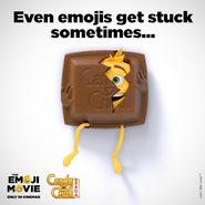 Even emojis get stuck sometimes with Candy Crush cover