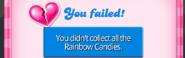 Rainbow Rapids levels failure screen