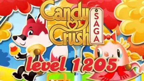 Candy Crush Saga Level 1205 - ★★★