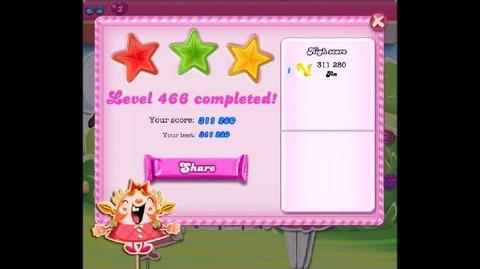 Candy Crush Saga Lavel 466 ★★★ NO BOOSTER 311 280 points-0