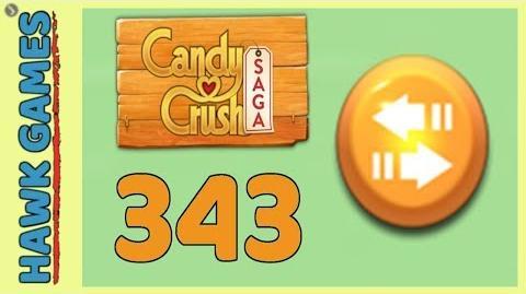 Candy Crush Saga Level 343 (Moves level) - 3 Stars Walkthrough, No Boosters