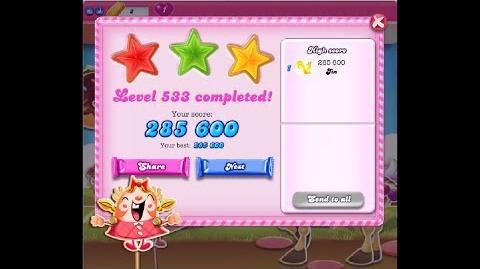 Candy Crush Saga Level 533 ★★★ NO BOOSTER