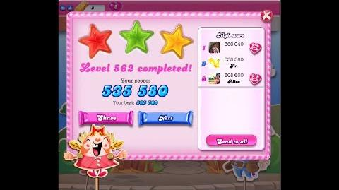 Candy Crush Saga Level 562 ★★★ NO BOOSTER