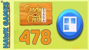 Candy Crush Saga Level 478 (Jelly level) - 3 Stars Walkthrough, No Boosters