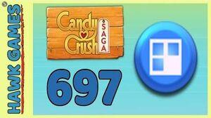 Candy Crush Saga Level 697 (Jelly level) - 3 Stars Walkthrough, No Boosters