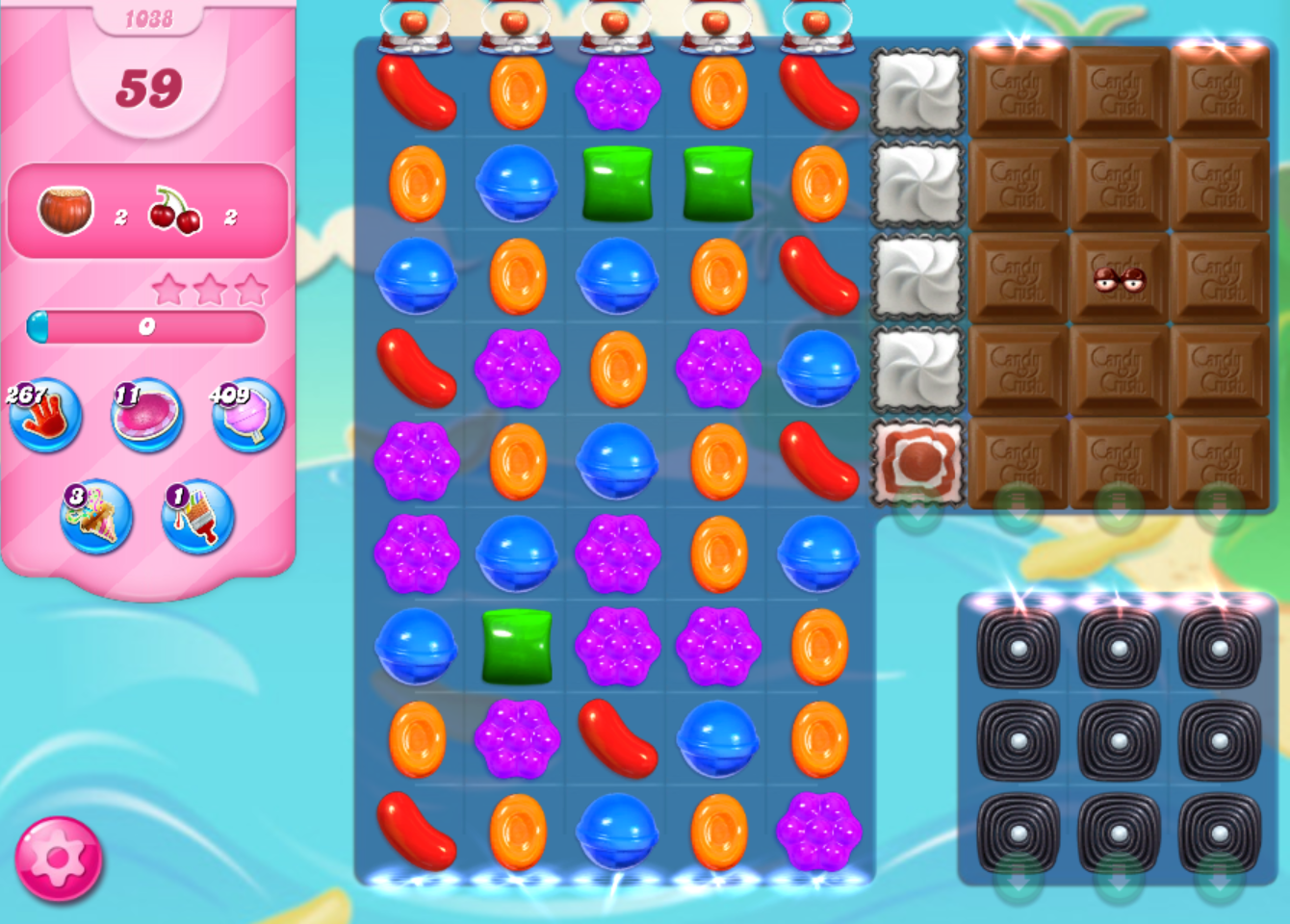 How to make chocolate grow in candy crush