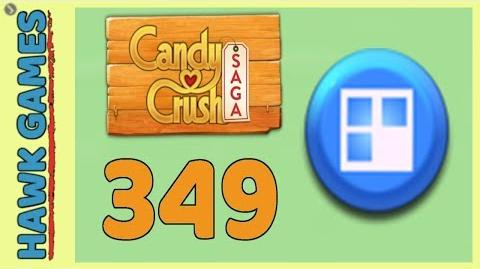 Candy Crush Saga Level 349 (Jelly level) - 3 Stars Walkthrough, No Boosters