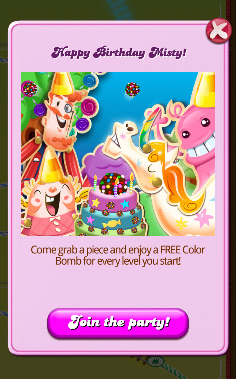 Image Happy Birthday Mistypng Candy Crush Saga Wiki FANDOM