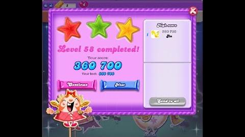 Candy Crush Saga Dreamworld Level 58 ★★★ 3 Stars