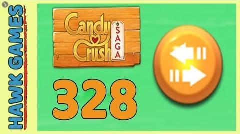 Candy Crush Saga Level 328 (Moves level) - 3 Stars Walkthrough, No Boosters
