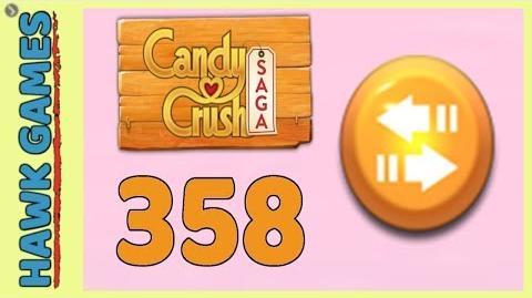 Candy Crush Saga Level 358 (Moves level) - 3 Stars Walkthrough, No Boosters