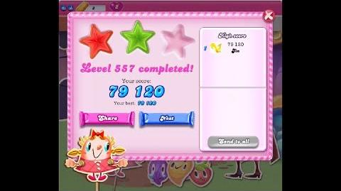 Candy Crush Saga Level 557 ★★ NO BOOSTER