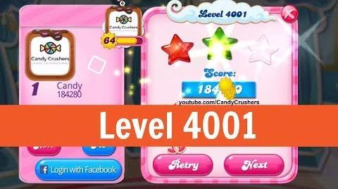 Candy Crush Saga - Level 4001 - No boosters ☆☆☆