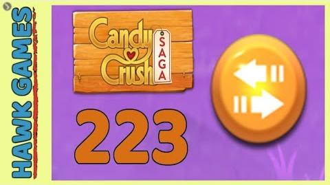 Candy Crush Saga Level 223 (Moves level) - 3 Stars Walkthrough, No Boosters