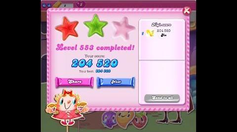 Candy Crush Saga Level 553 ★★ NO BOOSTER