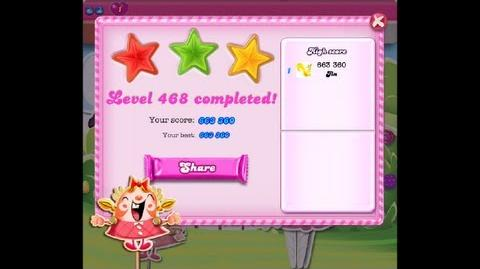 Candy Crush Saga Level 468 ★★★ NO BOOSTER 663 360 points-1