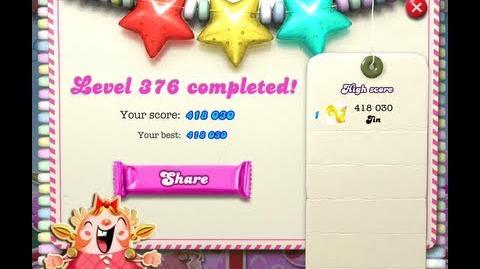 Candy Crush Saga Level 376 ★★★
