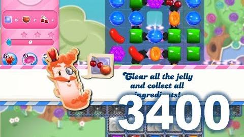 Candy Crush Saga Level 3400 (3 stars, No boosters)