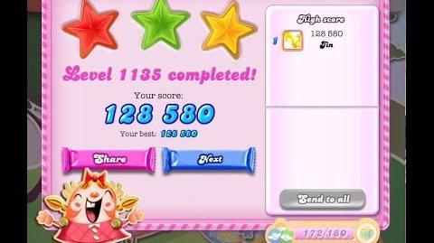 Candy Crush Saga Level 1135 ★★★ NO BOOSTER