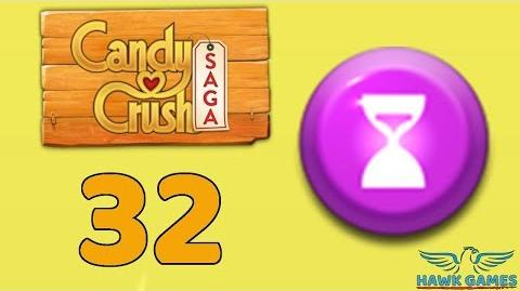 Candy Crush Saga 🎪 Level 32 (Timed level) - 3 Stars Walkthrough, No Boosters