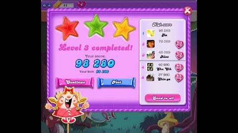 Candy Crush Saga Dreamworld Level 3 ★★★ 3 Stars