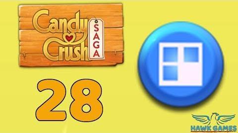 Candy Crush Saga 🎪 Level 28 (Jelly level) - 3 Stars Walkthrough, No Boosters