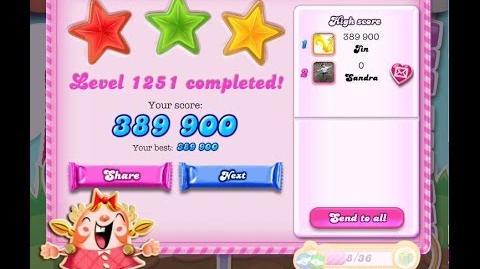 Candy Crush Saga Level 1251 ★★★ NO BOOSTER