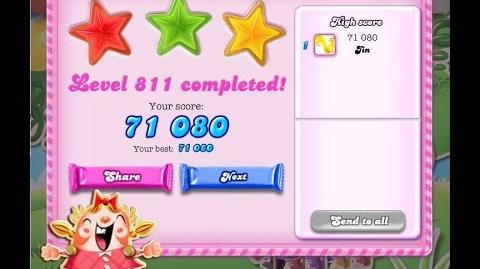 Candy Crush Saga Level 811 ★★★ NO BOOSTER