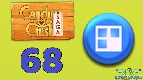 Candy Crush Saga 🎪 Level 68 (Jelly level) - 3 Stars Walkthrough, No Boosters