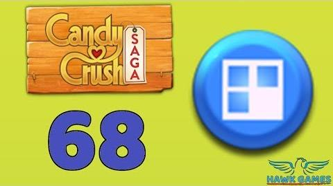 Candy Crush Saga 🎪 Level 68 (Jelly level) - 3 Stars Walkthrough, No Boosters