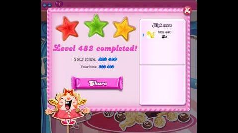 Candy Crush Saga Level 482 ★★★ NO BOOSTER