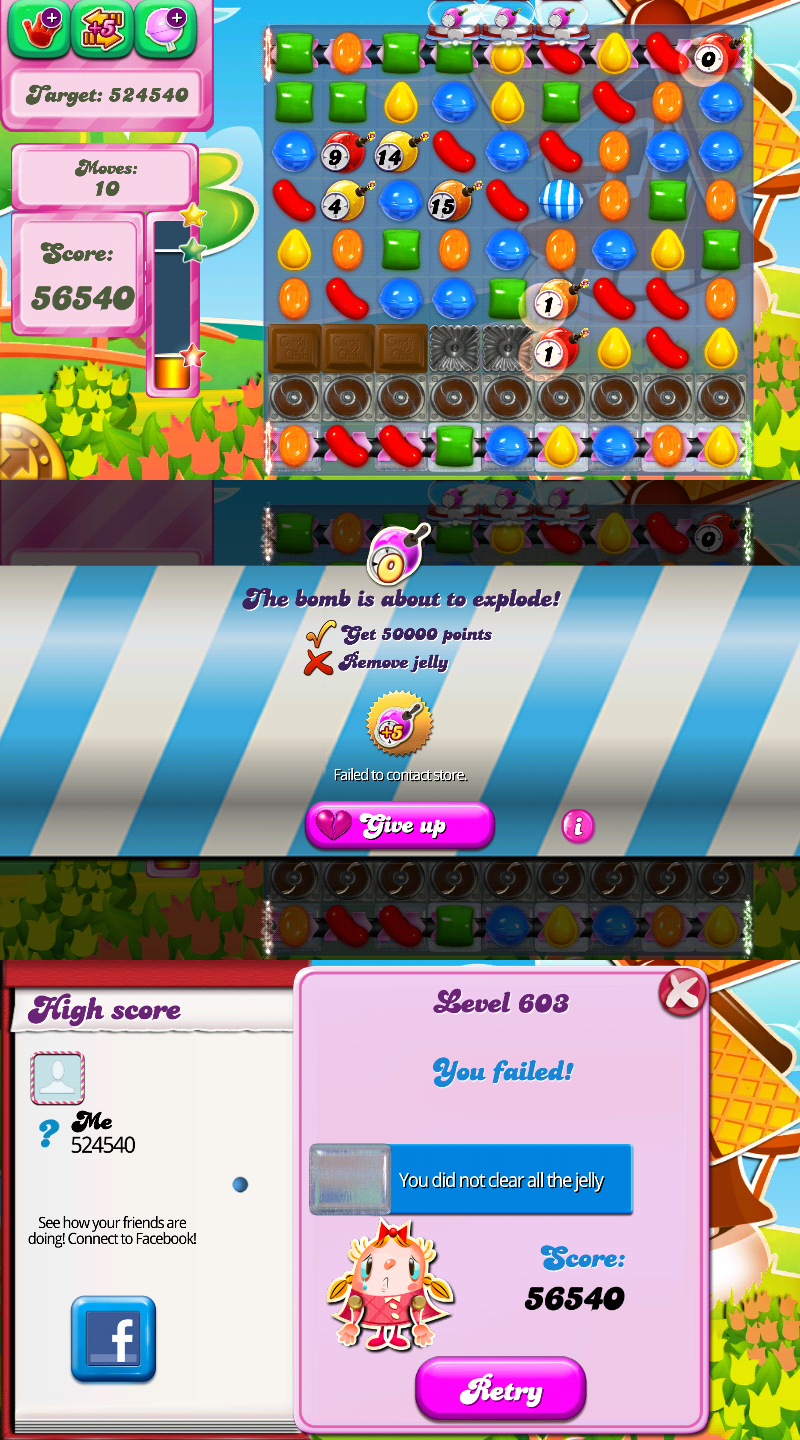 Image Jelly Game Over Candy Bomb Crush Saga Wiki