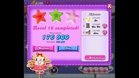 Candy Crush Saga Dreamworld Level 16 ★★ 2 Stars