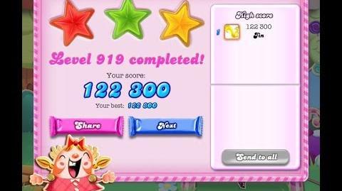 Candy Crush Saga Level 919 ★★★ NO BOOSTER