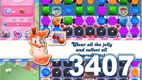 Candy Crush Saga Level 3407 (3 stars, No boosters)