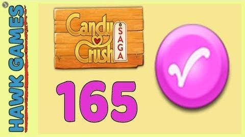 Candy Crush Saga Level 165 Hard (Candy Order level) - 3 Stars Walkthrough, No Boosters