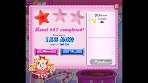 Candy Crush Saga Level 487 ★ NO BOOSTER