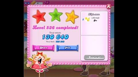 Candy Crush Saga Level 536 ★★★ NO BOOSTER