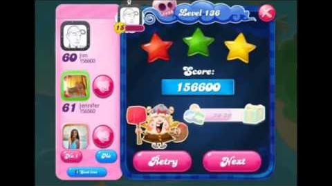 Candy crush saga level 136 No Booster, 3 stars