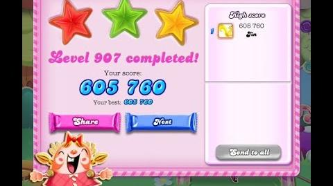 Candy Crush Saga Level 907 ★★★ NO BOOSTER