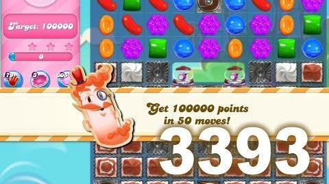 Candy Crush Saga Level 3393 (No boosters)
