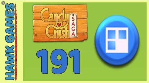 Candy Crush Saga Level 191 (Jelly level) - 3 Stars Walkthrough, No Boosters