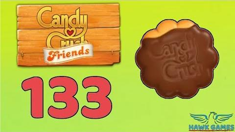 Candy Crush Friends 👫 Saga Level 133 (Cookie mode) - 3 Stars Walkthrough, No Boosters