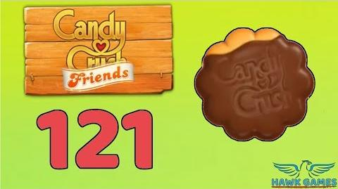 Candy Crush Friends 👫 Saga Level 121 (Cookie mode) - 3 Stars Walkthrough, No Boosters
