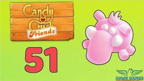 Candy Crush Friends Saga Level 51 (Mammoth mode) - 3 Stars Walkthrough, No Boosters