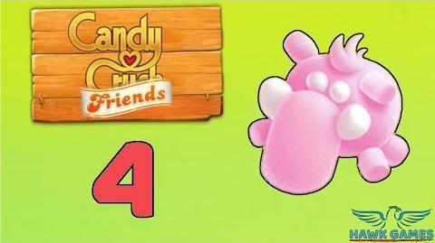 Candy Crush Friends Saga Level 4 (Mammoth mode) - 3 Stars Walkthrough, No Boosters