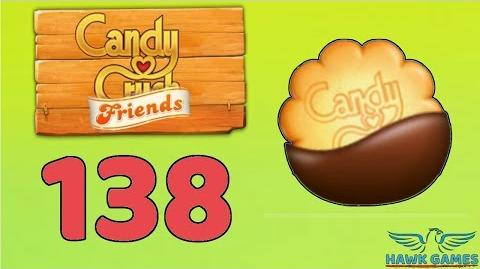 Candy Crush Friends 👫 Saga Level 138 (Cookie mode) - 3 Stars Walkthrough, No Boosters