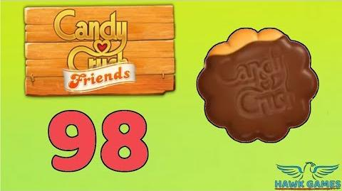 Candy Crush Friends 👫 Saga Level 98 (Cookie mode) - 3 Stars Walkthrough, No Boosters-0